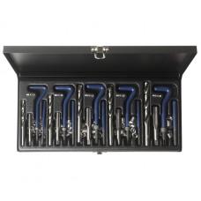 Набор инструментов для восстановления резьбы 5 размеров комбинированный в кейсе JTC
