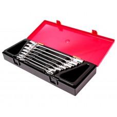 Набор ключей торцевых 6-19мм шарнирных 7 предметов в кейсе JTC