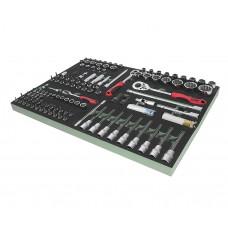 Набор инструментов 123 предмета слесарно-монтажный (VAG) в ложементе JTC