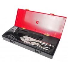 Набор инструментов 3 предмета 10' (ключ разводной,клещи переставные,клещи с фиксатором) в кейсе JTC