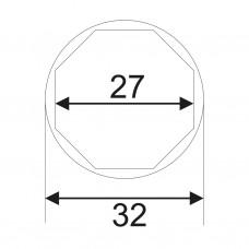 Головка для датчика КПП 1/2'х27мм 8-ми гранная JTC