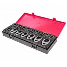 Набор ключей разрезных 10-19мм 3/8' , 21-27мм 1/2' односторонних 16 предметов в кейсе JTC