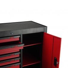 Тележка инструментальная 7 секций красная с боковым ящиком JTC